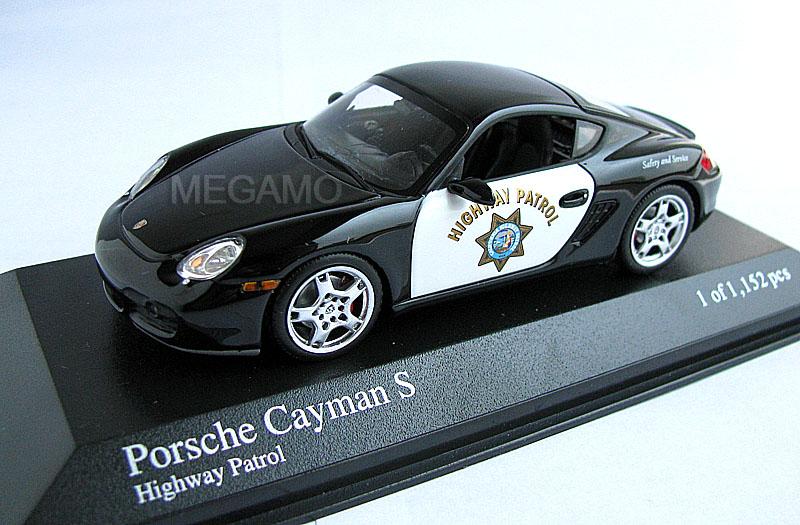 масштабная модель porsche cayman s 2007 white